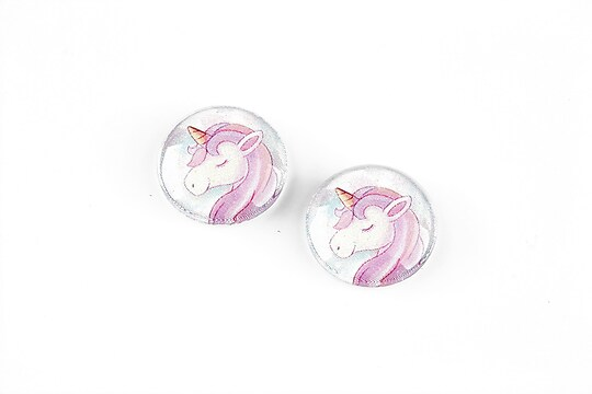 "Cabochon sticla 16mm ""Unicorn"" cod 1257"