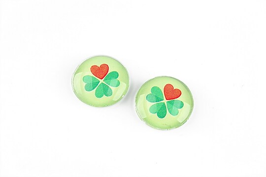 "Cabochon sticla 16mm ""Martisor"" cod 1265"