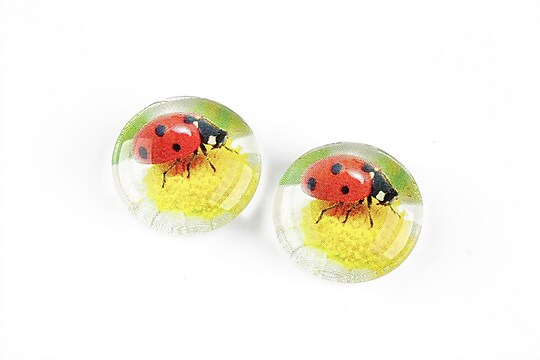 "Cabochon sticla 20mm ""Martisor"" cod 1269"