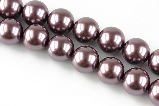 Perle tip Mallorca mov sfere 12mm
