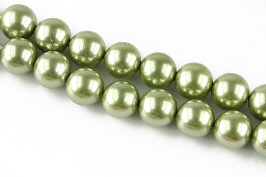 Perle tip Mallorca verzi sfere 10mm