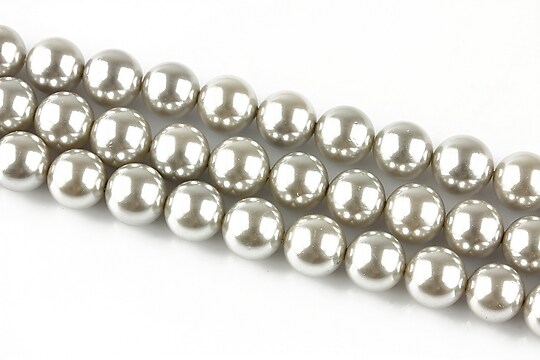 Perle tip Mallorca argintii sfere 8mm