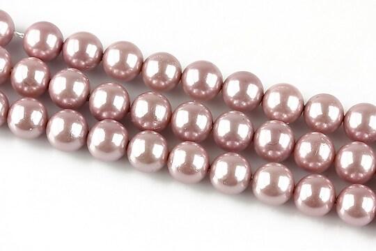 Perle tip Mallorca lila sfere 8mm