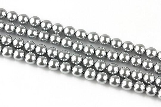 Perle tip Mallorca argintii sfere 6mm