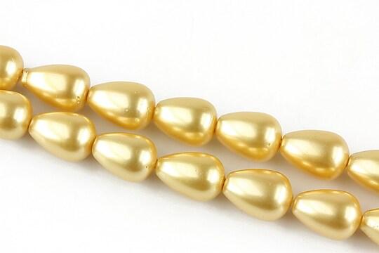 Perle tip Mallorca aurii lacrima 12x9mm
