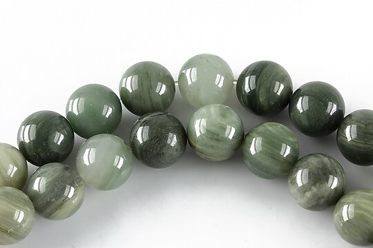 Green Fossil jasper sfere 10mm
