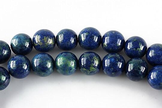 Mashan jad cu irizatii metalice sfere 10mm - albastru inchis