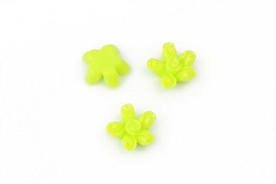 Cabochon rasina floare 12mm - verde deschis