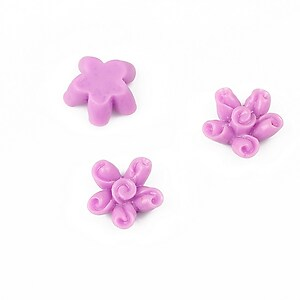 Cabochon rasina floare 12mm - lila
