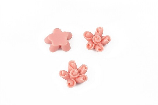 Cabochon rasina floare 12mm - rose blush