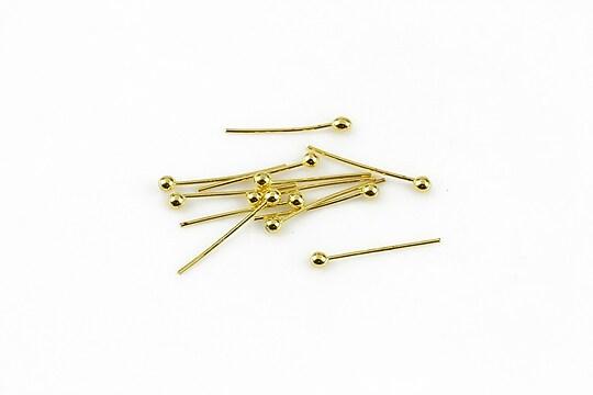 Ace cu bila aurii 1,4cm, grosime 0,5mm (50 buc.)