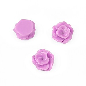 Cabochon rasina floare 13mm - lila