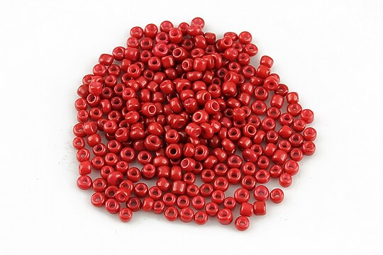 Margele de nisip 2mm opace (50g) - cod 578 - rosu inchis