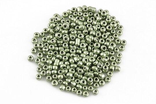 Margele de nisip 2mm cu efect frosted (50g) - cod 583 - verde deschis