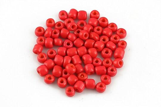 Margele de nisip 4mm opace (50g) - cod 585 - rosu deschis