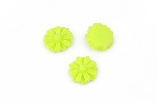 Cabochon rasina margareta 13mm - verde deschis