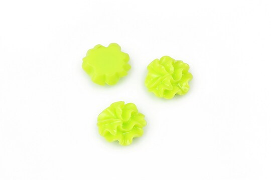 Cabochon rasina garoafa 11mm - verde deschis