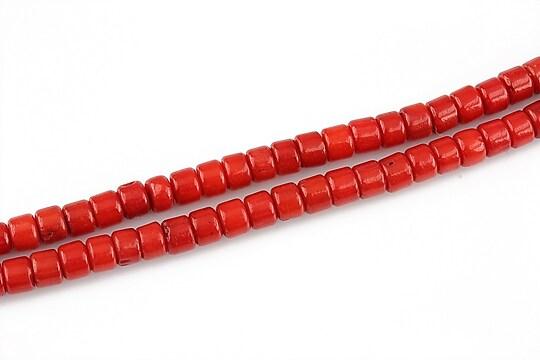 Coral rosu rondele 3x4mm