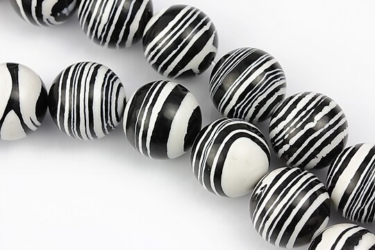 Compozit alb-negru sfere 14mm