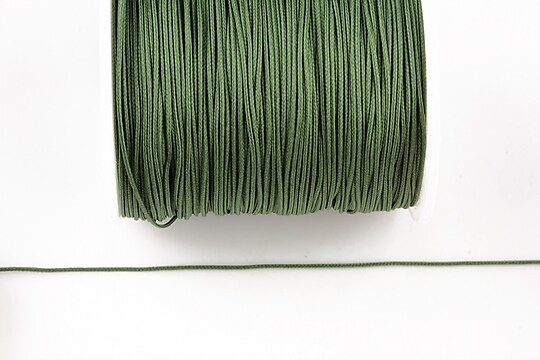 Snur nylon cu guta in interior grosime 0,8mm (1m) - verde militar