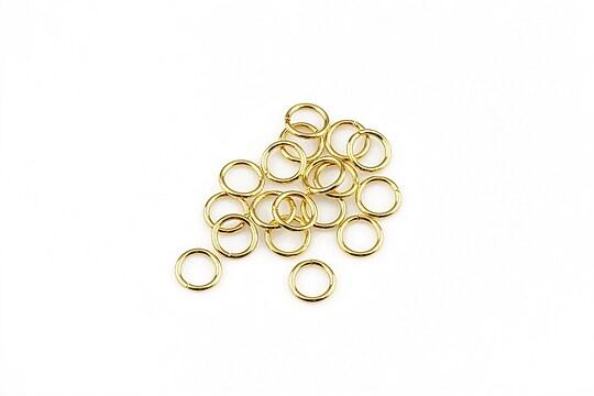 Zale otel inoxidabil 304 auriu 5mm (20 buc.)