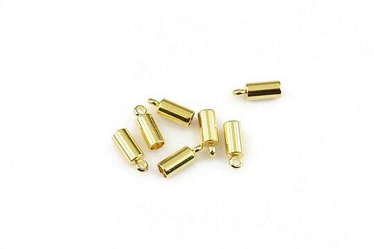 Capat snur otel inoxidabil 304 auriu 8x3mm, interior 2,5mm