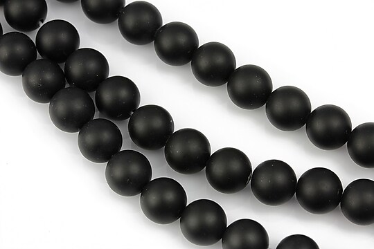 Agate negre efect mat sfere 8mm