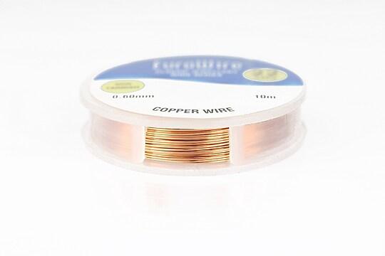 Sarma de modelaj cupru Copper, Non Tarnish, grosime 0,6mm, rola 10m