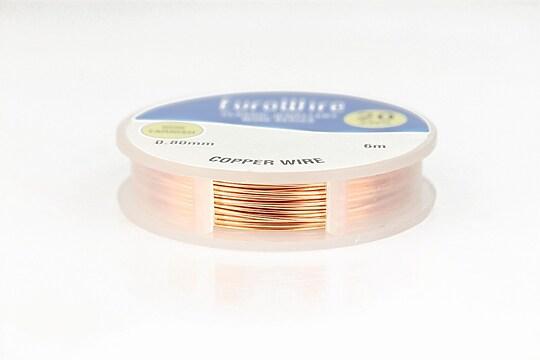 Sarma de modelaj cupru Copper, Non Tarnish, grosime 0,8mm, rola 6m