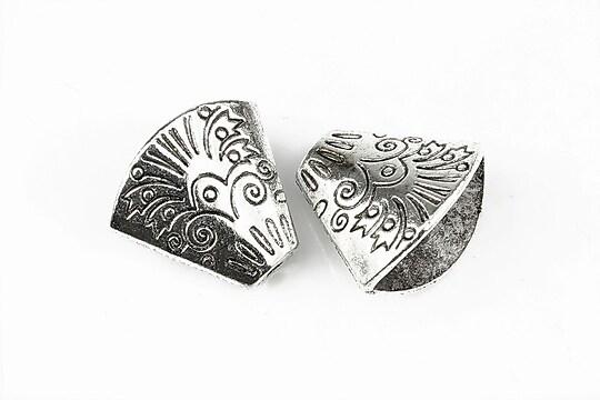 Capacele margele argintiu antichizat 18x20mm