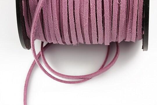 Snur suede (imitatie piele intoarsa) 3x1mm, lila (1m)