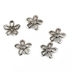 Capacele margele argint tibetan floare 11mm