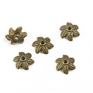 Capacele margele bronz 10mm
