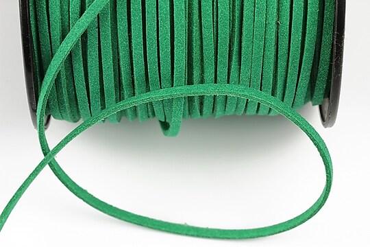 Snur suede (imitatie piele intoarsa) 3x1mm, verde (1m)