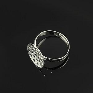 Baza de inel argintie, reglabila, sita 13,5mm