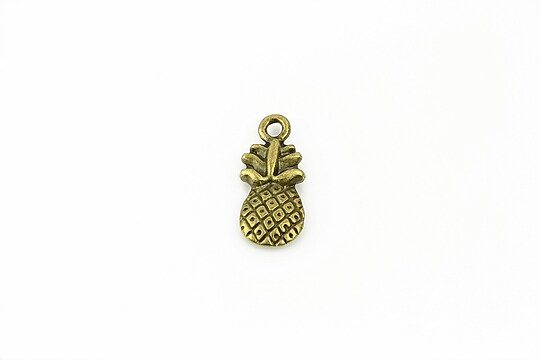 Charm bronz  ananas 19x8mm