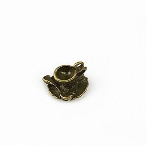 Charm bronz  ceasca 13x15mm