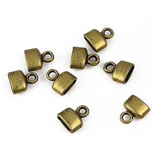 Capat de snur bronz 9x8x4mm (interior 6x2,5mm)