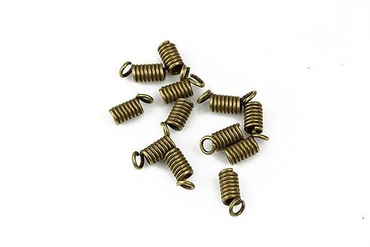 Terminatie de snur bronz 9x4mm (10 buc.)