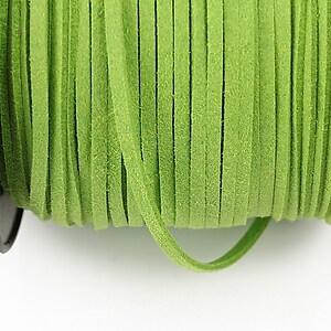 Snur suede (imitatie piele intoarsa) 3x1mm, verde deschis (1m)