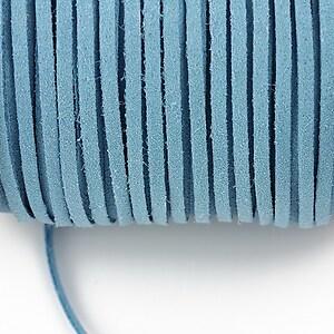 Snur suede (imitatie piele intoarsa) 3x1mm, bleu (1m)