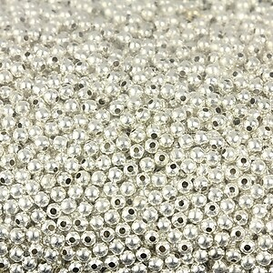 Distantier biluta, argintiu, 2mm (3g - aprox. 120 buc.)