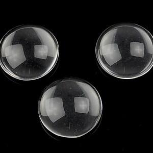 Cabochon de sticla transparenta pentru fundal personalizat 18mm