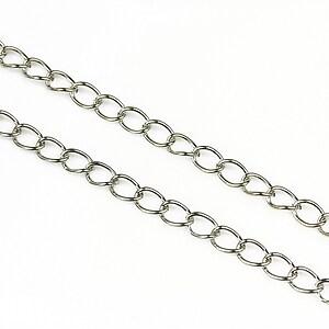Lant argintiu inchis 5x3,5mm (49cm)