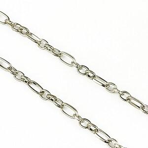 Lant argintiu inchis 7x3,5+4,5x3,5mm (49cm)