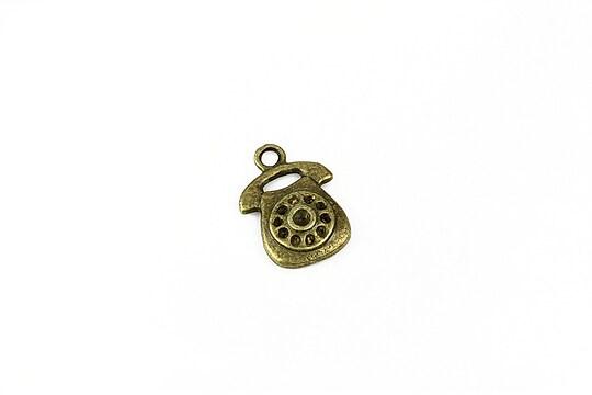 Charm bronz telefon 17x12mm