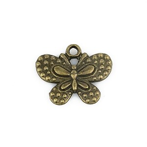 Charm bronz fluture 20x24mm