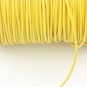Snur cerat grosime 1,5mm, galben (1m)
