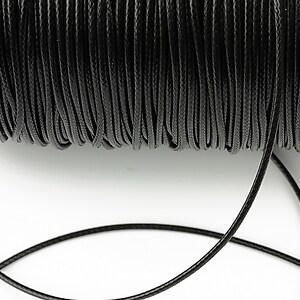 Snur cerat grosime 1,5mm, negru (1m)