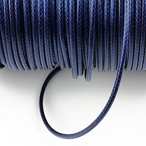 Snur cerat grosime 2mm, albastru inchis (1m)
